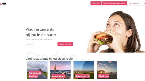 Afhaalnu homepage